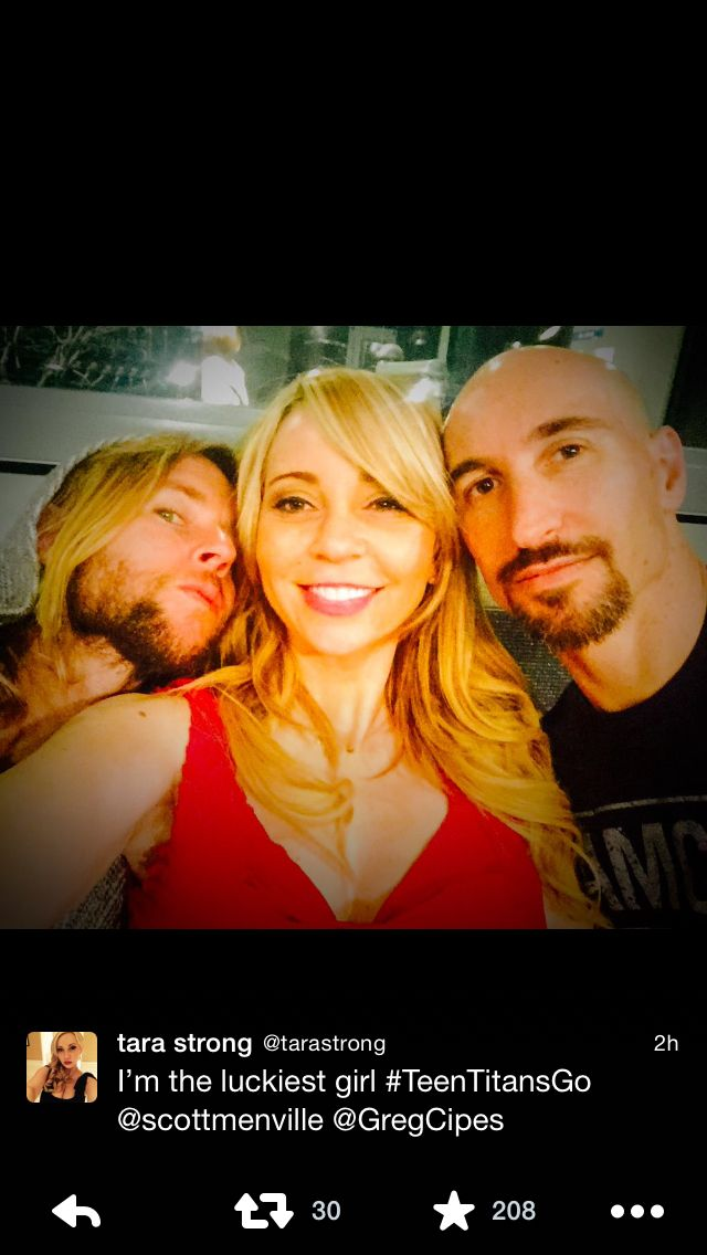 Greg Cipes, Tara Strong, Scott Menville #FondleFriday