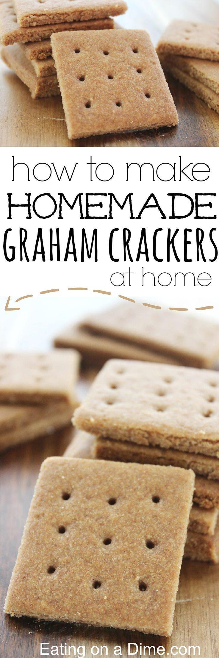 Easy to Make Homemade Graham Crackers that taste amazing.