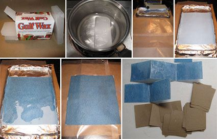 From the site How to Make Chinese Sky Lanterns, Coating a Paper Towel With Wax to Make Sky-Lantern Burner