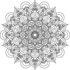 Vector Decorative Blue Mandala Illustration Acheter Ce