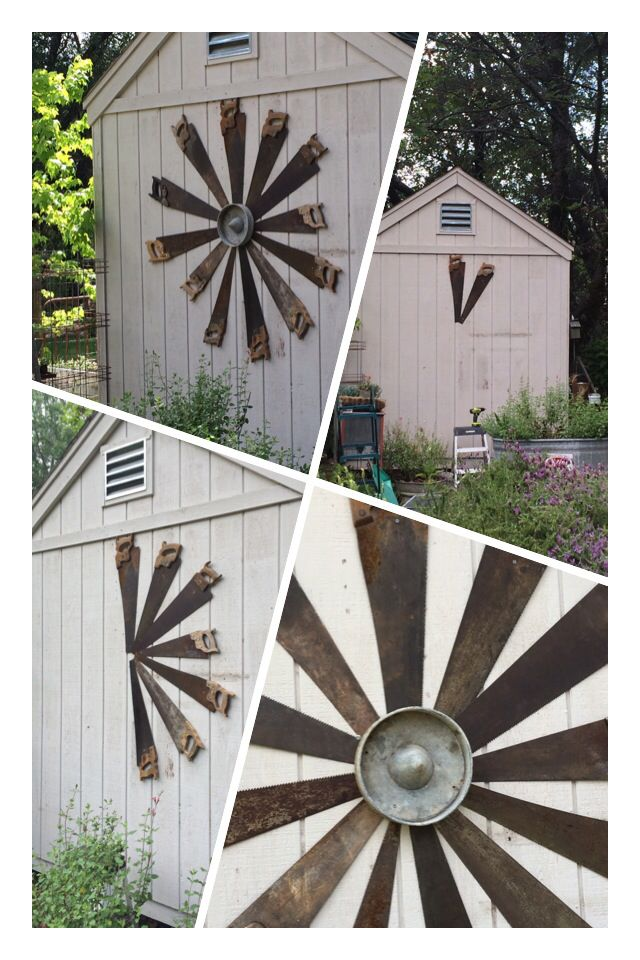 Look what my husband made... On the side of my garden shed