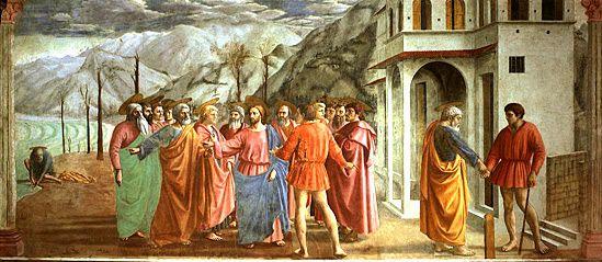 Le Paiement du tribut, Masaccio, Florence, église Santa Maria del Carmine