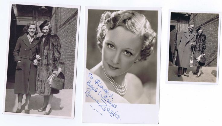 Anne Ziegler signed photograph late 30's + Webster Booth and fan photo