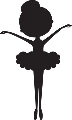 Siluta bailarina en negro                                                                                                                                                                                 Más