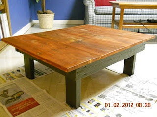 Coffee Table Made From Old Barn Wood