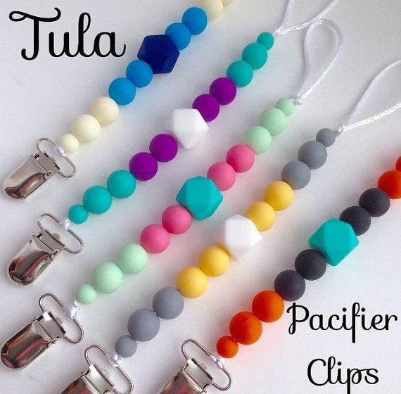 NEW* Tula Silicone Pacifier Clip, Silicone Teether Clip, Hexagon Beads, Baby Pacifier Holder, Paci Clip, Tula Teether