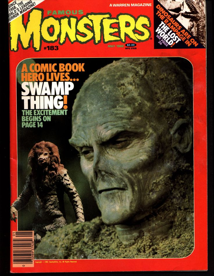 FAMOUS MONSTERS 183 Horror Science Fiction Fantasy Swamp Thing 1925 Lost World Atomic Monsters Flying Winged Creatures