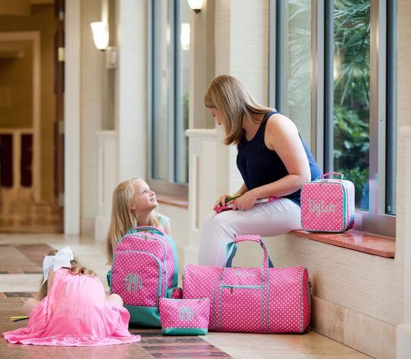 ... Cool Backpacks For  release date 3e2d9 3cda0 Dottie Monogrammed Pink  Duffel Bag for Girls ... 325ce765b4