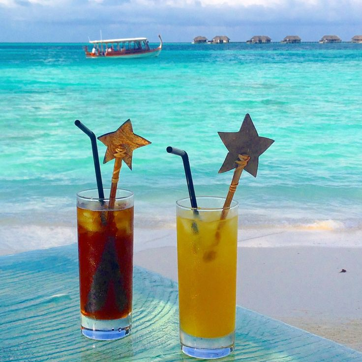 Cocktails at the Conrad Maldives Rangali Island Resort