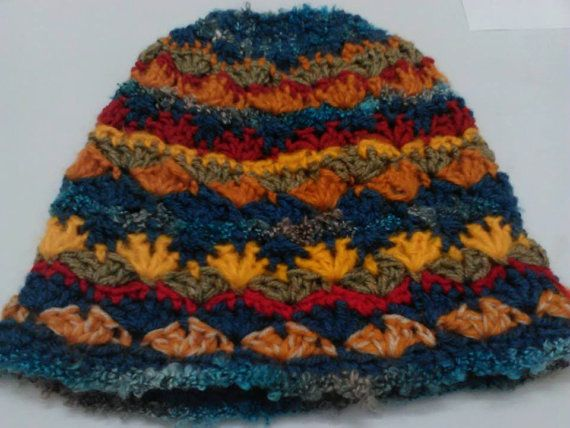 Crazy hat OOAK item Crocheted hat for winter by CristinaMyCrochet
