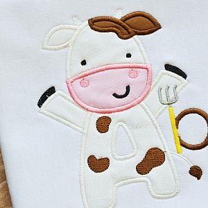 All Appliques - Cow Alphabet