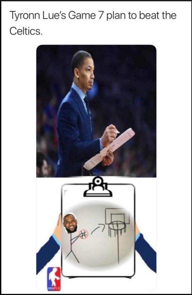 Tyronn Lue Meme : tyronn, Tylue, #cavs, #lebron, Basketball, Funny,, Baseball, Cards,, Tyronn