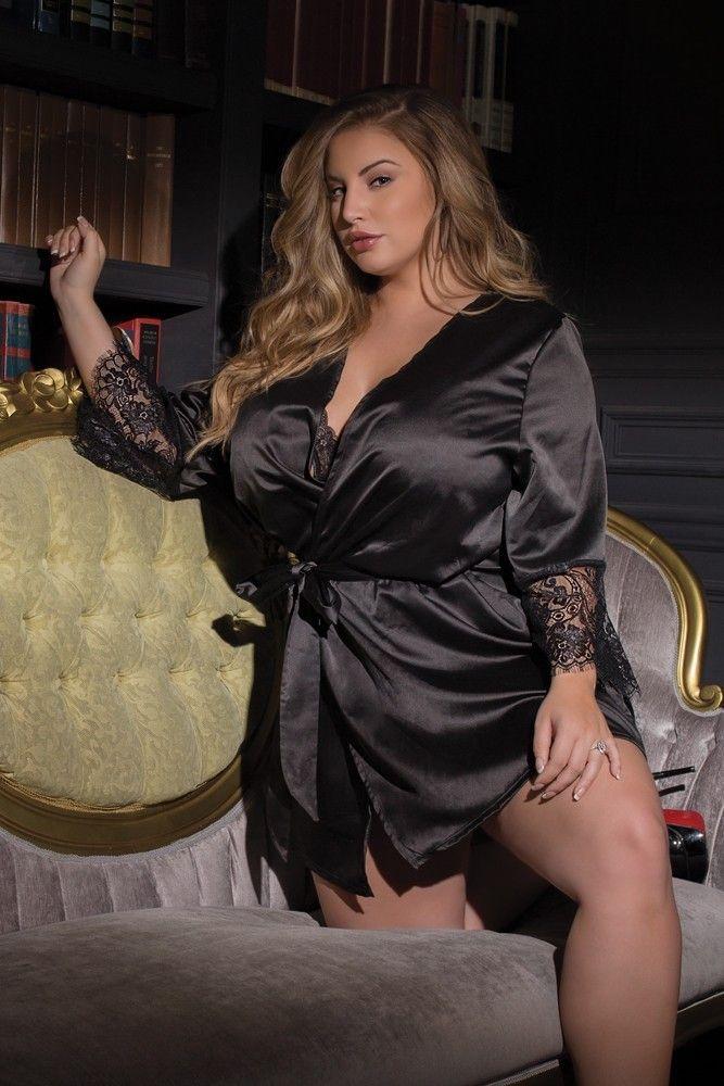 Ashley Alexiss Black Satin Robe 0ee22ffb0