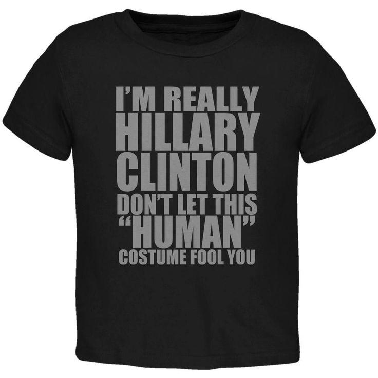 Halloween Election Hillary Clinton Costume Black Toddler T-Shirt