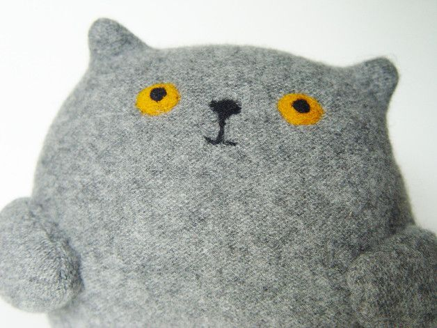 cats at DaWanda Soft Toys – Ambra cat softie, plush toy cat – a unique product by NaBakir on DaWanda