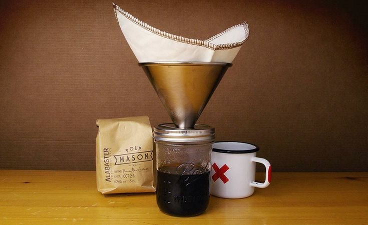 Coffee Maker Jar : Pour Over Mason Jar Coffee Maker Jars, Masons and Coffee maker