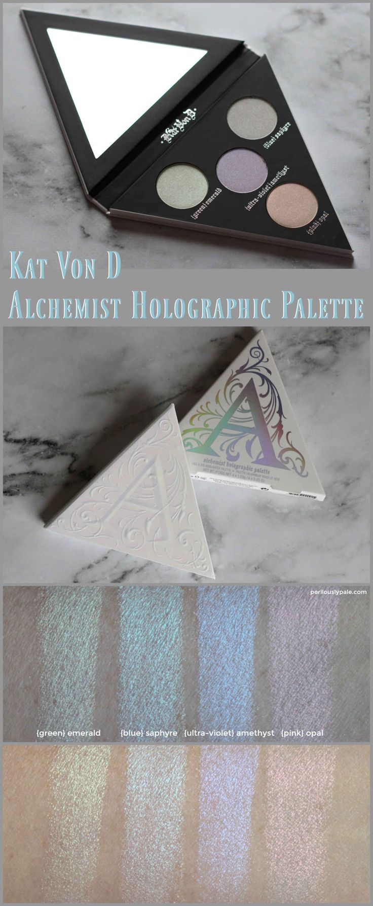 Kat Von D Alchemist Holographic Palette Review & Swatches