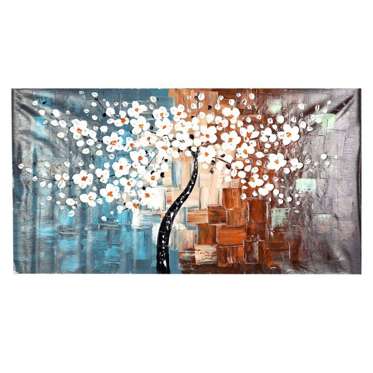 High Quality 60*120cm Unframed Hand-painted Oil Painting Set Flower Tree Canvas Print Decoration for Home Living Room Bedroom Office Art Picture from tomtop.com