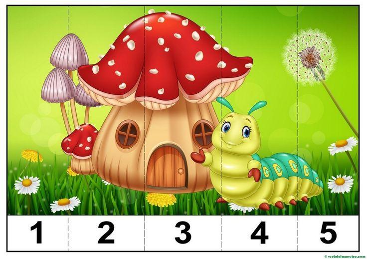 puzzles infantiles para aprender los números