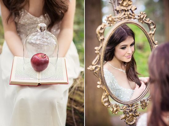 Snow White Wedding Inspiration Shoot...could mix both Alice in Wonderland and Snow White to make it super ethereal...