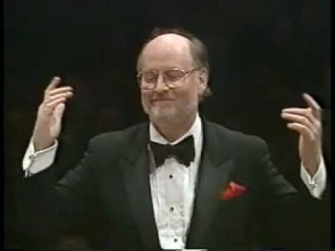 ... Star Wars theme song (released 1977) ... composed and conducted by John Williams, seen here with the Boston Pops