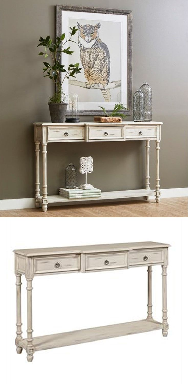 Transform An Unsuspecting Hallway Of Your Home Into A Beautiful Storage And Display Spot With This Conso Entryway Console Table Entry Furniture Sofa End Tables