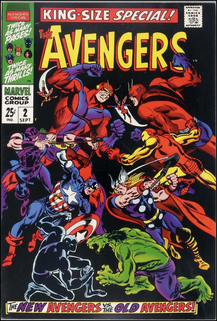 129 best comics and action heroes images on pinterest comic art avengers annual 2 1968 marvel comics cover art by john buscema and frank