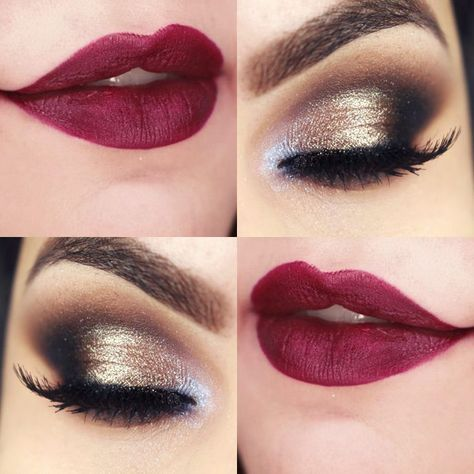 This make up for brown eyes brown hair colour scheme is perfect when you're wearing black, gold or even that skimpy red dress you've always wanted to wear. | anavitaskincare.com