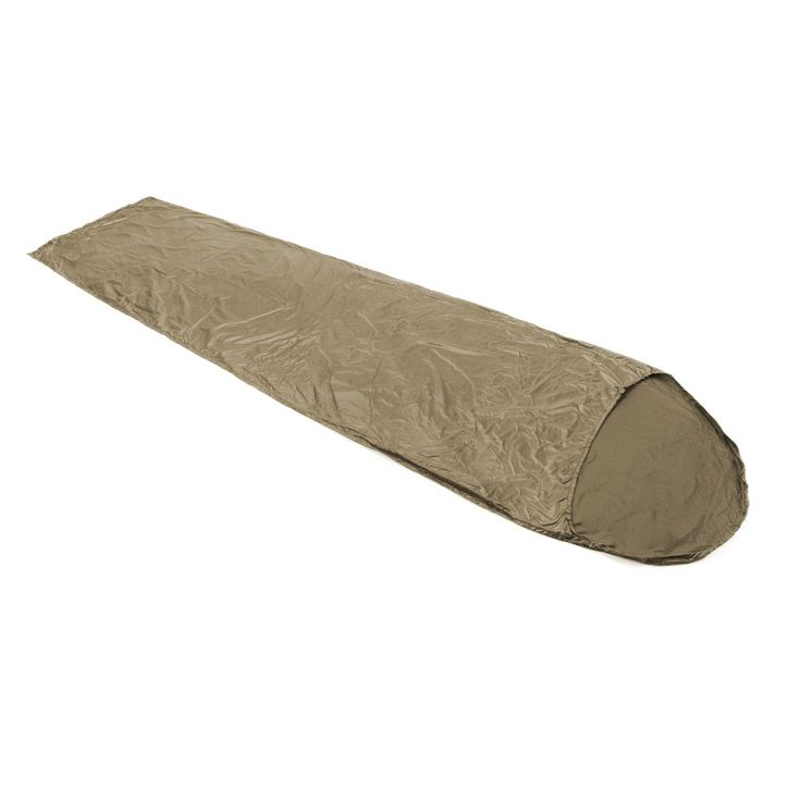 """Snugpak Paratex Sleeping Bag Liner, Desert Tan. Wicking action of the Paratex light fabric will draw moisture away from your body. Easy to wash and care for. Lightweight and compact. Made tough to meet military standards. Weighs 10ozs and pack size 8"""" x 5""""."""