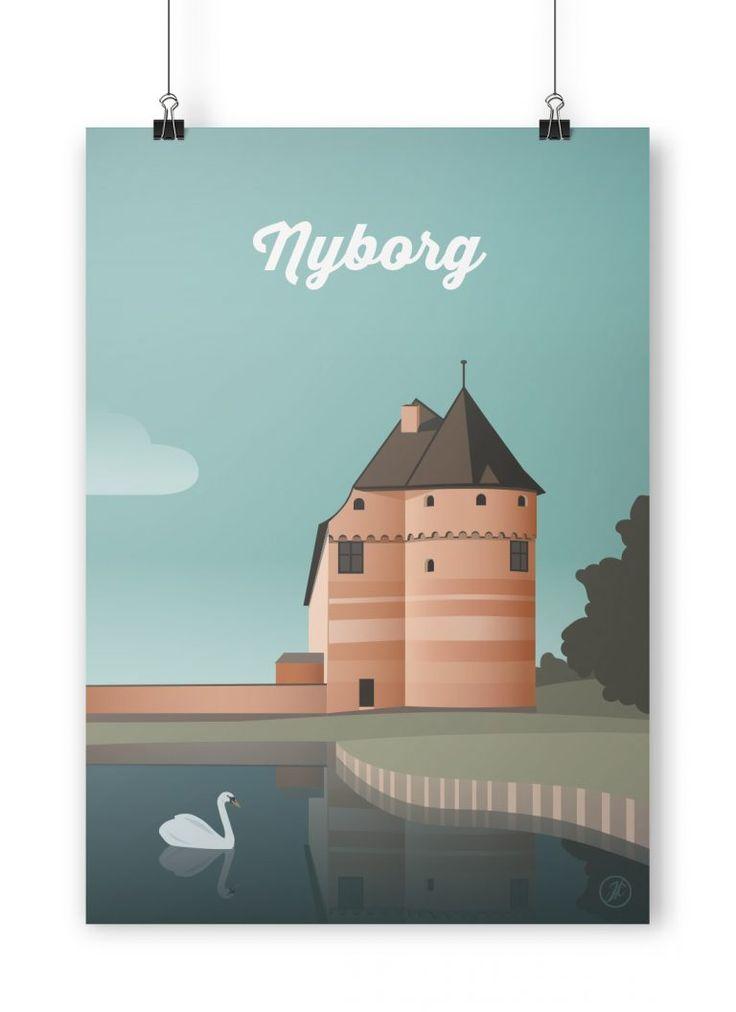 Nyborg Plakat  #byplakat #design #danmark #dansdesign #danish #illustration #graphicart #artwork #nyborg