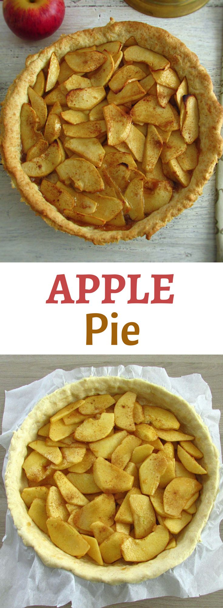 Apple pie | Food From Portugal. If you want to prepare a delicious pie for a special dessert, this apple pie recipe is perfect for you! It's very tasty, has excellent presentation and everyone will like the pleasant taste of the apple! #recipe #apple #pie
