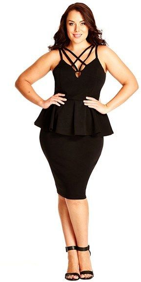 Yes City Chic…come through with this sexy peplum dress!Get it…