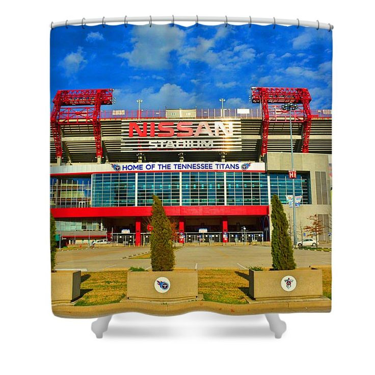Nissan Stadium Home Of The Tennessee Titans Shower Curtain featuring the photograph Nissan Stadium Home Of The Tennessee Titans by Lisa Wooten