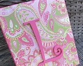 Items similar to Wall Letters, 8x10 Framed Monogram, Pink and Green Baby Nursery, Paisley Nursery, Painted Letters, Wood Letters, Personalized, Monogram on Etsy. , via Etsy.
