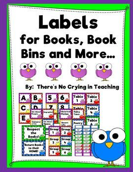 labels for books bins and more editable cute birds favorites