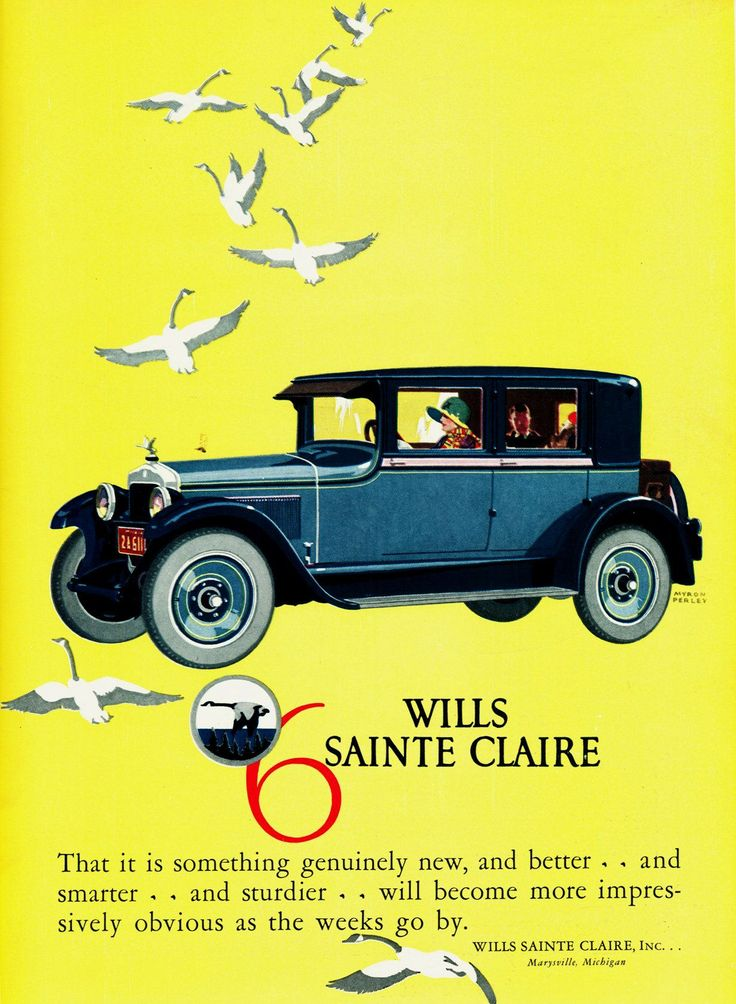 14 best Wills Sainte Claire Car Ads images on Pinterest | Ads ...