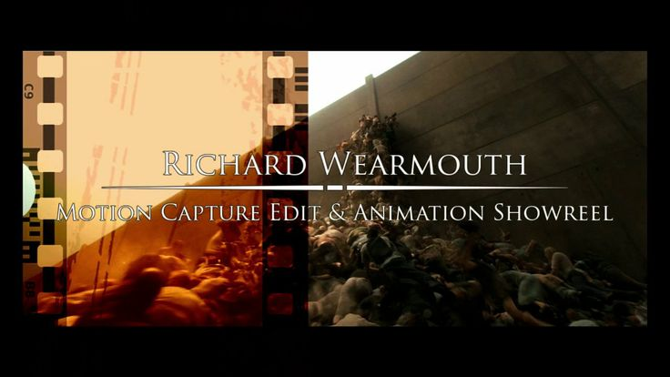 Richard Wearmouth Motion Capture Animation reel. Some of the work I did on World War Z (MPC), Tarzan 3D (Metric Minds/Constantin Film), RYSE...