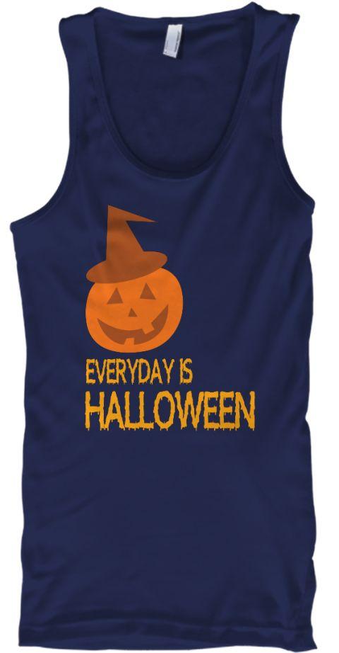 Halloween Every Day Is Halloween Hoodie Navy T-Shirt Front - halloween t shirt ideas