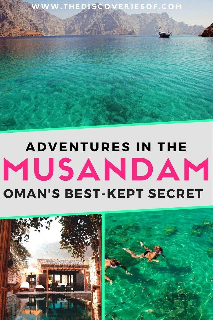 The Musandam is one of the coolest Middle East travel destinations. Wondering where to travel in Oman_ Wanderlust guaranteed. #traveldestinations #bucketlistideas #beautifulplaces
