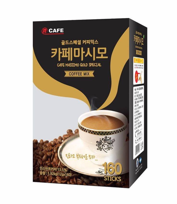 CNF Korea Cafe Massimo Gold Special 160T Coffee Mix Best Quality 12g x 160Sticks #CNFKorea