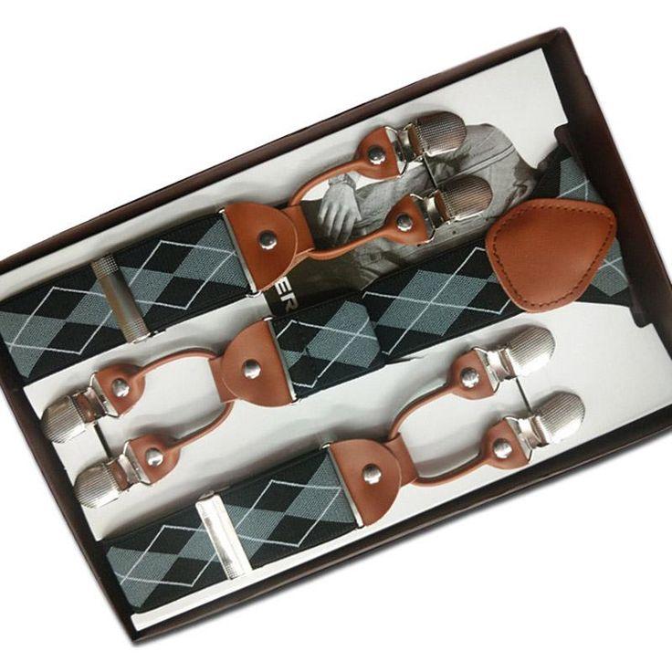 6 Clips Men Suspenders Y-Shape Jacquard Braces Elastic Adjustable Pants Suspenders Belt Bretelles Hommes for Trouser