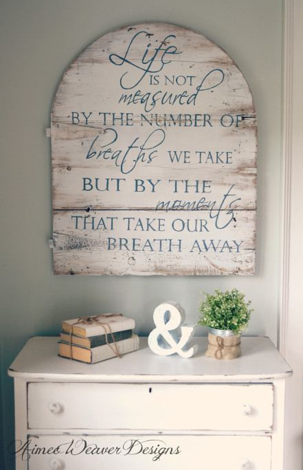 Aimee Weaver's Gallery of Wood Wall Art Designs - many great ideas for wall art plus instructions on how she creates them