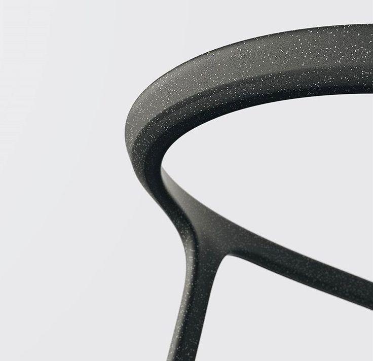 Chair, back rest, black, speck,  white, white, chamfer