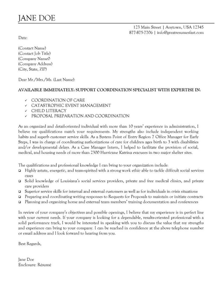 Cover Letter Template Non Profit Cover letter for resume