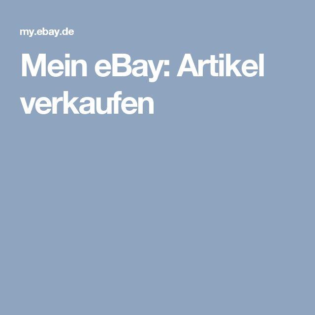 Mein eBay: Artikel verkaufen