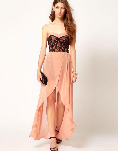 Zalm kleurige jurk