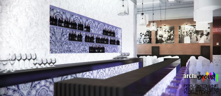 Bar. Projekt wnętrz restauracji w Bytomiu / Interior design of a restaurant in Bytom. Bar