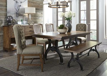 Arlington House Table with 4 Upholstered Chairs | HOM Furniture