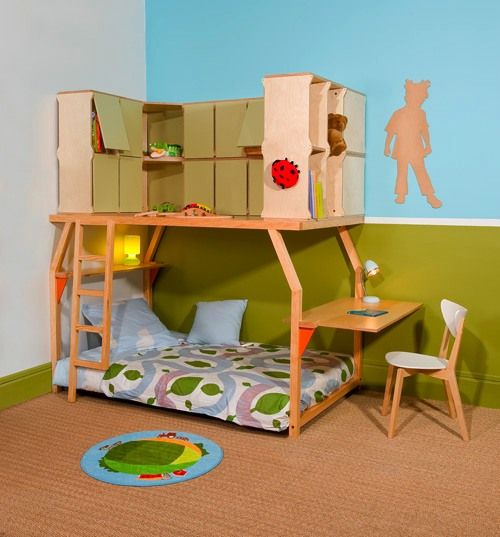Pop Space: Perpetually Convertible Kids' Loft Bed Structure By Matali Crasset - Daddy Types