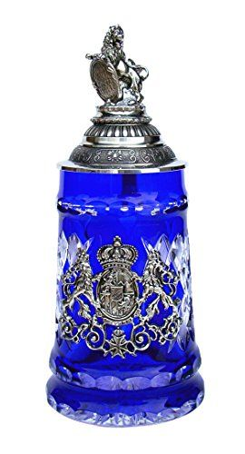 Lord of Crystal Bavaria Beer Stein with Bavarian Lion Lid